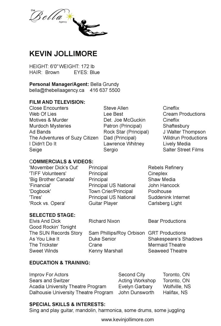 Kevin Jollimore Resume
